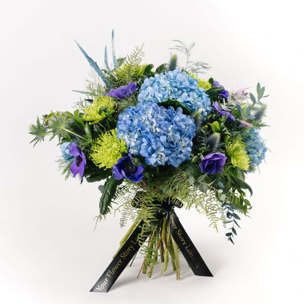 Luxury Blue Hydrangea Flower Bouquet