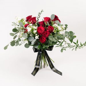 Red Roses Phlox Bouquet