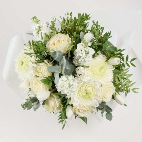 Blanc Flower Bouquet by Your Flower Story London - Flower Delivery Barnet and North London (152)