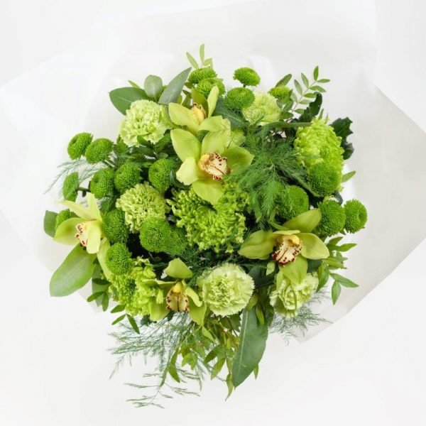 Emerald Flower Bouquet From Your Flower Story London - Flower Delivery Barnet and North London (249)