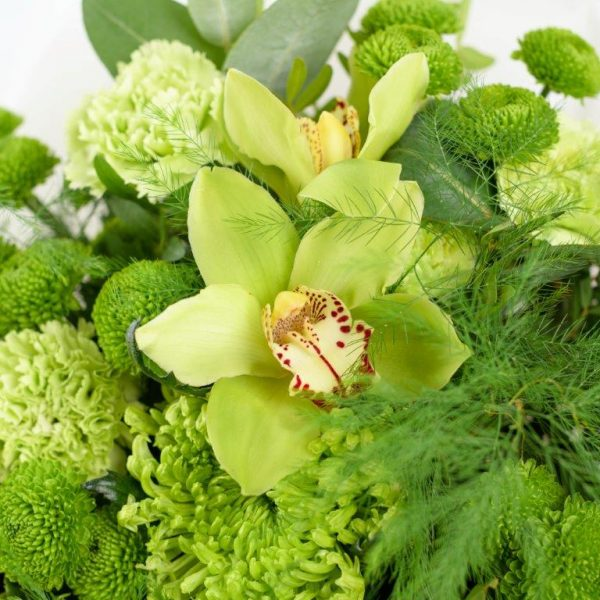 Emerald Flower Bouquet From Your Flower Story London - Flower Delivery Barnet and North London (250)