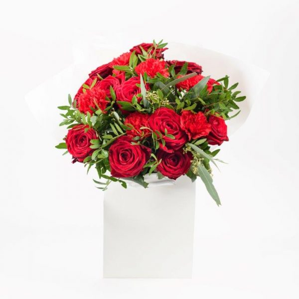 Flower Delivery Barnet and North London - Lady in Red Flowers Bouquet by Your Flower Story London (50)