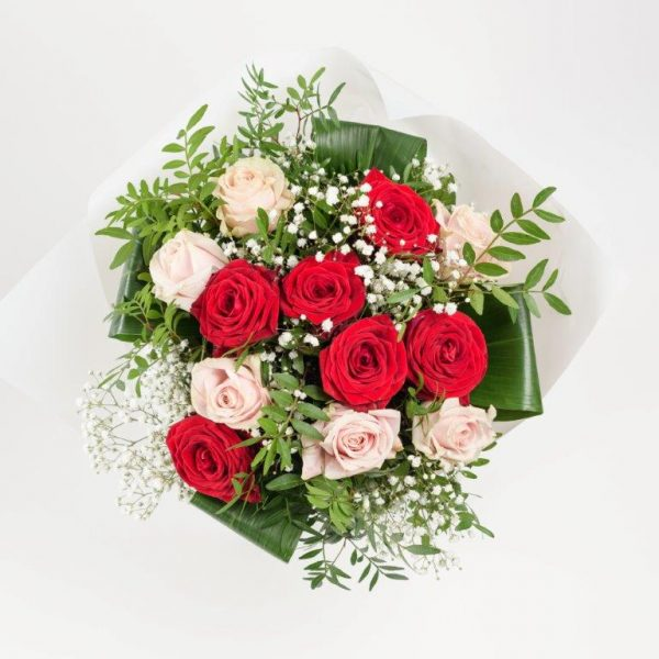 Flower Delivery Barnet and North London - Red and Pink Doze with Gypso Flowers (83)
