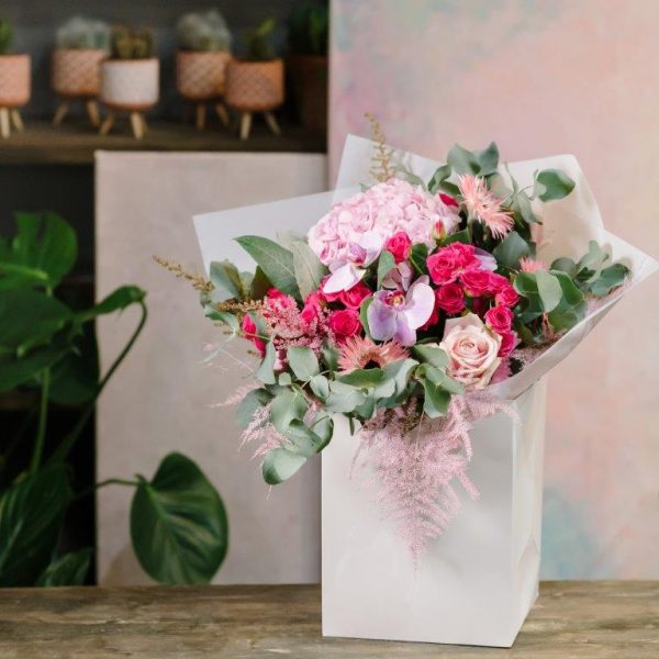 Pink Dimond Flower Bouquet From Your Flower Story London - Flower Delivery Barnet and North London (246)