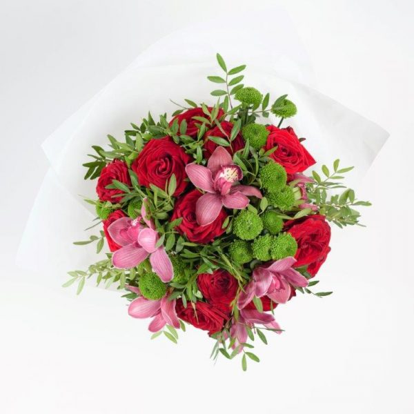 Rose & Orchid Flowers Bouquet by Your Flower Story London - Flower Delivery Barnet and North London (9)