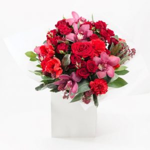 Ruby Red Flower Bouquet From Your Flower Story London - Flower Delivery Barnet and North London (42)
