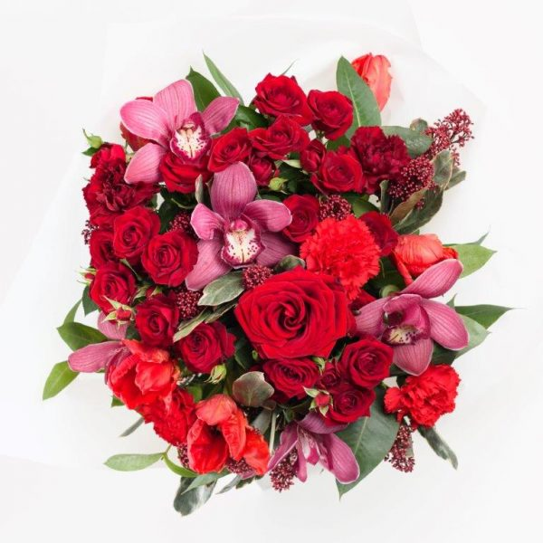 Ruby Red Flower Bouquet From Your Flower Story London - Flower Delivery Barnet and North London (43)