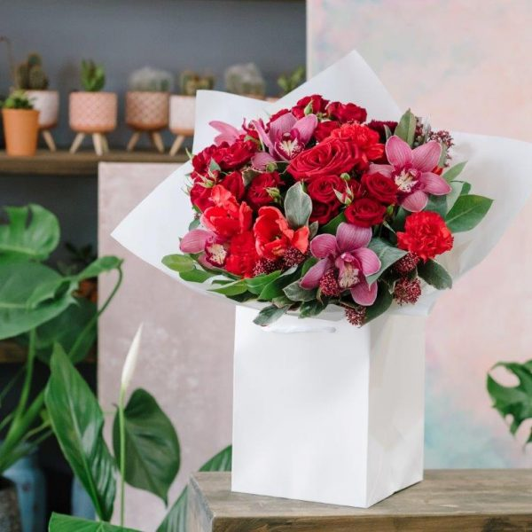 Ruby Red Flower Bouquet From Your Flower Story London - Flower Delivery Barnet and North London (48)
