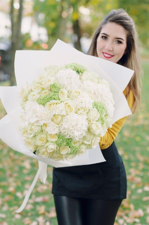 White Elegance Flower Bouquet by Your Flower Story - Flower Delivery North London (107)