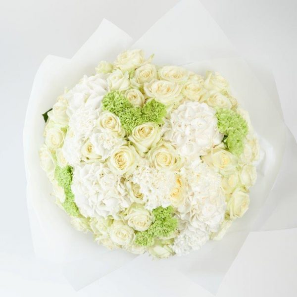 White Elegance Flower Bouquet by Your Flower Story - Flower Delivery North London (163)