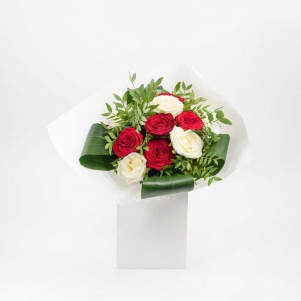 White&Red Love Bouquet by Your Flower Story London - Flower Delivery Barnet and North London (1)