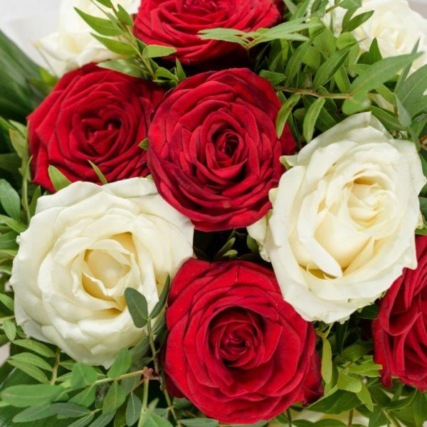 White&Red Love Bouquet by Your Flower Story London - Flower Delivery Barnet and North London (4)
