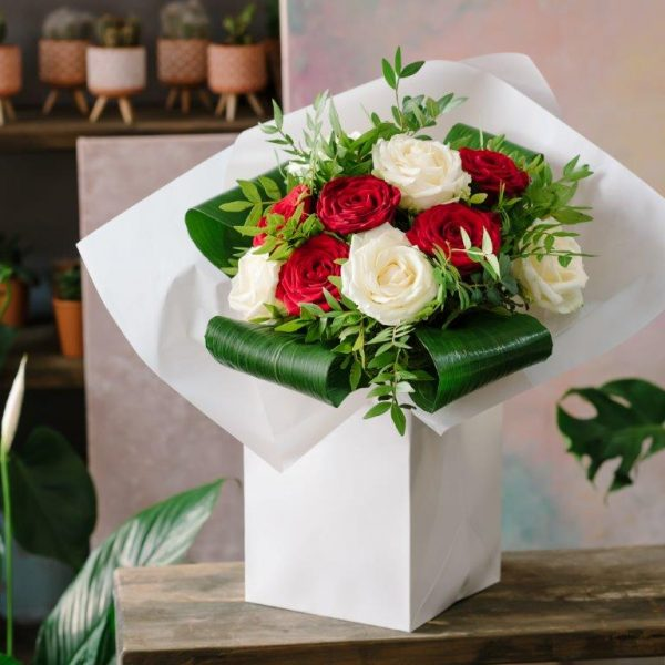 White&Red Love Bouquet by Your Flower Story London - Flower Delivery Barnet and North London (6)