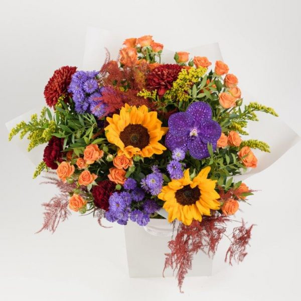 Flower Delivery Barnet and North London - Autumn Vibe's Flowers Bouquet by YFS (136)