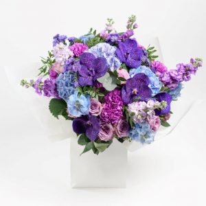 Flower Delivery Barnet and North London - Purple Night Flower Bouquet by YFS (183)