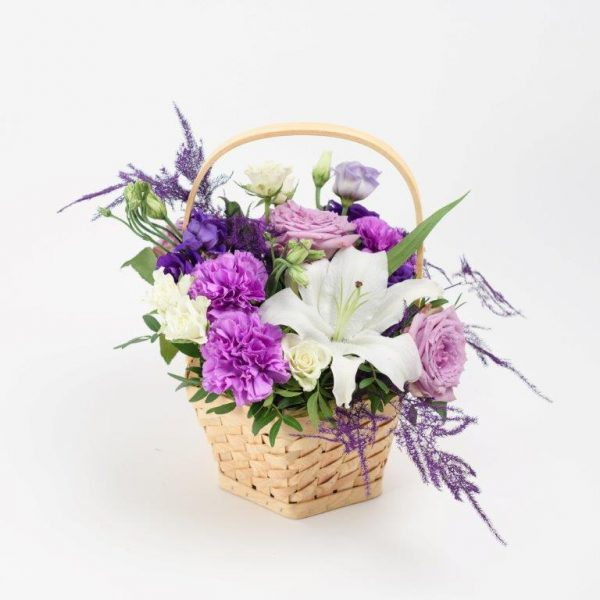 Purple Heart Flowers Basket Delivery - Same Day Flowers Delivery Colindale North London (1)