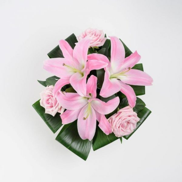Same Day Flower Delivery Hampstead - Pink Lily Flower Basket Arrangement by YFS North London (2)
