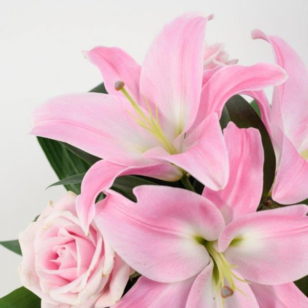 Same Day Flower Delivery Hampstead - Pink Lily Flower Basket Arrangement by YFS North London (3)