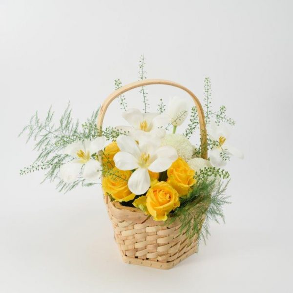 Sunny Day Flowers Basket Arrangement Delivery - Same Day Flowers Delivery Brent Cross (1)