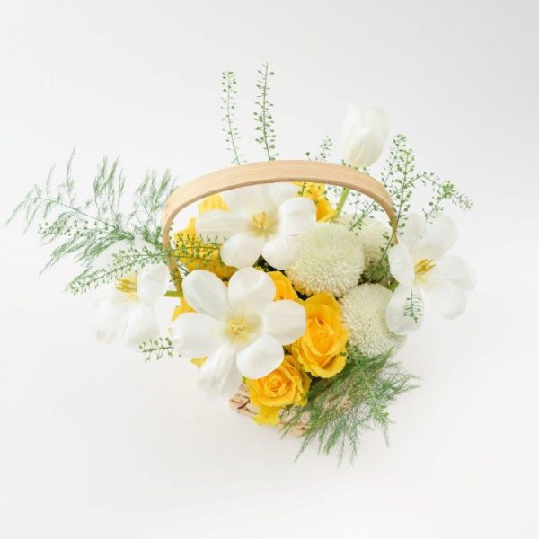 Sunny Day Flowers Basket Arrangement Delivery - Same Day Flowers Delivery Brent Cross (2)