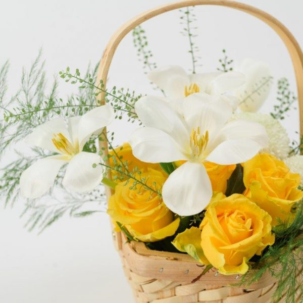Sunny Day Flowers Basket Arrangement Delivery - Same Day Flowers Delivery Brent Cross (3)