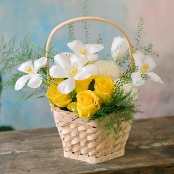 Sunny Day Flowers Basket Arrangement Delivery - Same Day Flowers Delivery Brent Cross (4)
